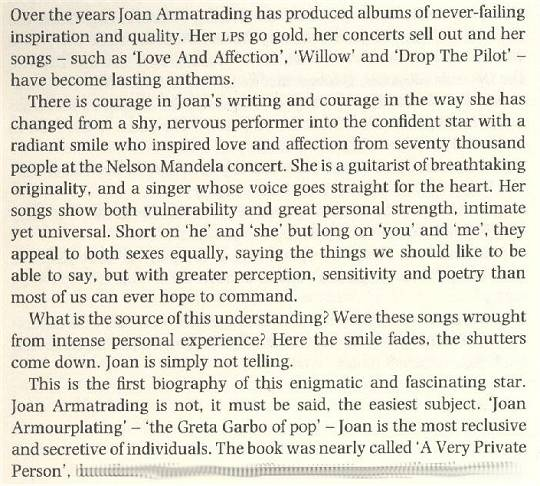 Sean Mayes: Joan Armatrading - A Biography (1990) - Introduction