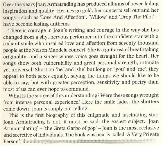 Sean Mayes: Joan Armatrading - A Biography (1990) - Introduction