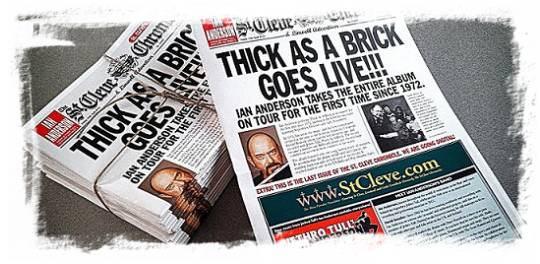 St: Cleve Cronicle: Thick as a Brick goes live!!!