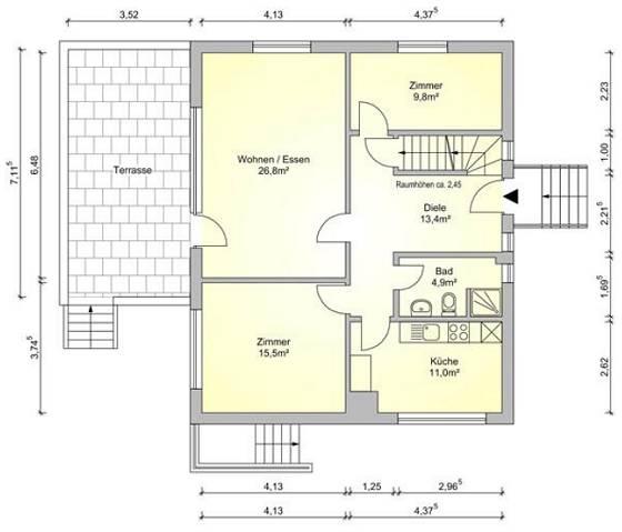 Einfamilienhaus Tostedt-Todtglüsingen, Rostenstraße 14 – hier: Grundriss Erdgeschoss