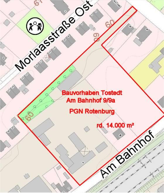 Bauvorhaben 'Am Bahnhof 9/9a' in Tostedt durch PGN Rotenburg