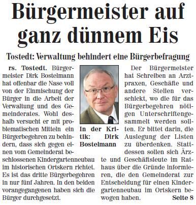 Kreiszeitung Nordheide Elbe&Geest Wochenblatt vom 17.11.2012 – Seite 1