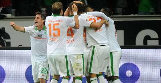 Nach Ausgleichtreffer zum 3:3 des SV Werder Bremen in Leverkusen