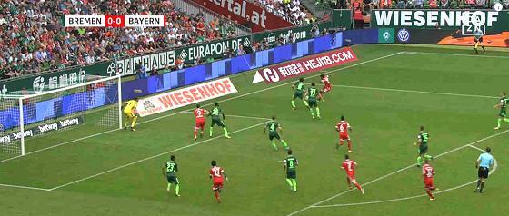 Fußball-Bundesliga 2017/2018 – 2. Spieltag: SV Werder – Bayern München – Abseits oder nicht?