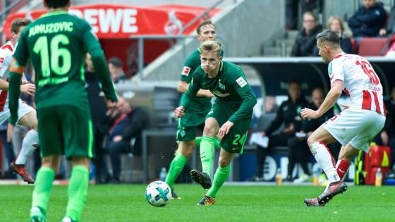 Bundesliga 2017/2018: 1. FC Köln – SV Werder Bremen 0:0 (9. Spieltag) – Johannes Eggestein stürmt