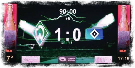 100. Bundesliga-Derby – SV Werder – HSV 1:0