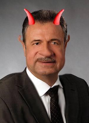 Claus Weselsky, Bundesvorsitzender der GDL – die Fratze des Grauens