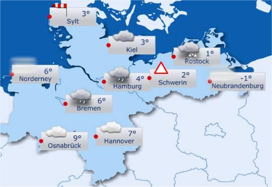 Wetter in Norddeutschland – 24.12.2012 (Heiligabend)