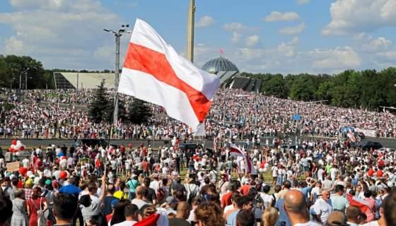 'Marsch der Freiheit' in Minsk, der Hauptstadt von Belarus