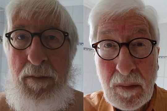 Willi vor dem Friseur (like a bum) - Willi nach dem Friseur (wieder zivilisiert)