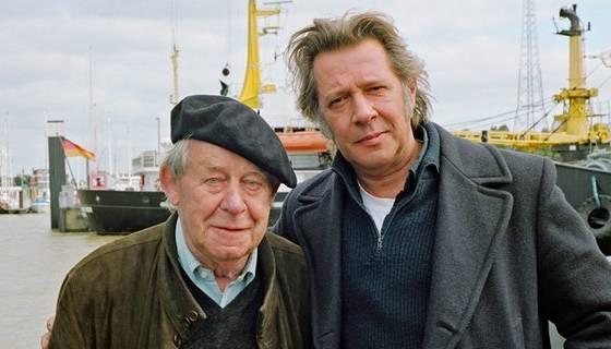 Siegfried Lenz und Jan Fedder 2008 (anläßlich der Verfilmung 'Das Feuerschiff')