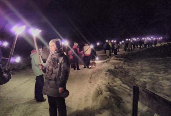 Fackelwandern am 27.12.2017 in Grainau zur Neuneralm