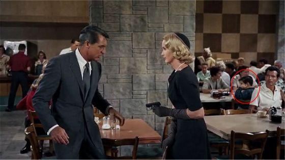 Alfred Hitchcock: Der unsichtbare Dritte (1959): Die Filmfehler-Szene