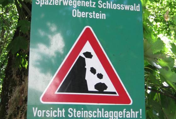 Vorsicht - Steinschlaggefahr!