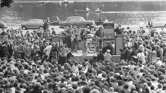 Jethro Tull live im Hyde Park, London am 29.06.1968