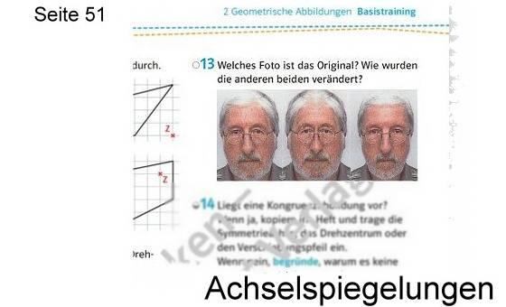 Schnittpunkt Mathematik 8 - Achsenspiegelung: S.51
