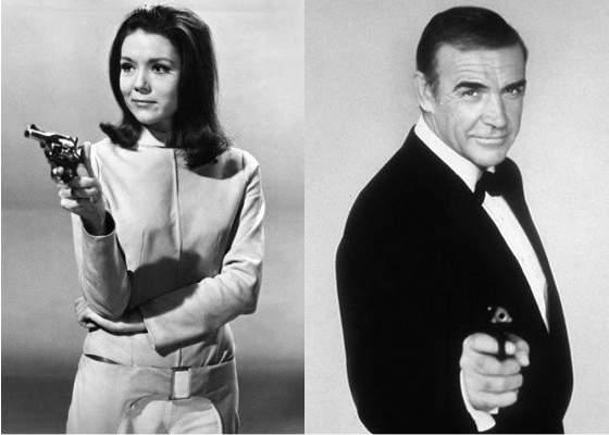 Diana Rigg als Emma Peel / Sean Connery als James Bond