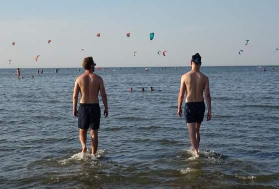Ziel erreicht in Cuxhaven: Hinein ins Wattenmeer