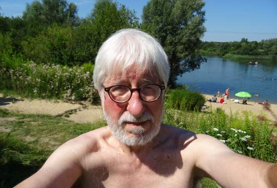 Selfi mit Willi am Baggersee Todtglüsingen