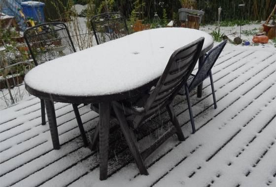 Wintereinbruch Ende März in Tostedt