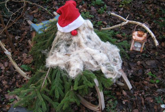 Tomte Tummetott bewacht uns und unser Haus - Tostedt Weihnachten 2019