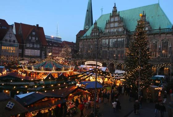 Weihnachtsmarkt Bremen 2019 - mit Rathaus