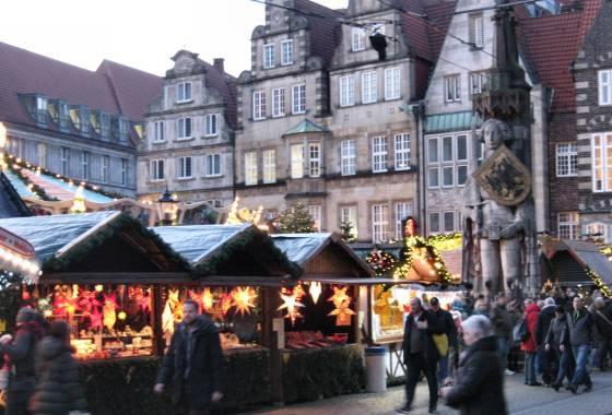 Weihnachtsmarkt Bremen 2019 - mit Roland