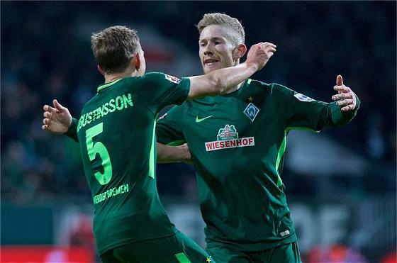 Werders Torschützen gegen Wolfsburg: Ludwig Augustinsson und Florian Kainz (2x)