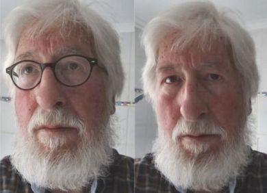Bärtiger Marx-Willi (mit und ohne Brille)