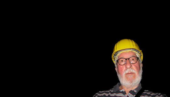 Willi mit Helm (Edelsteinminen Idar-Oberstein Juli 2019)
