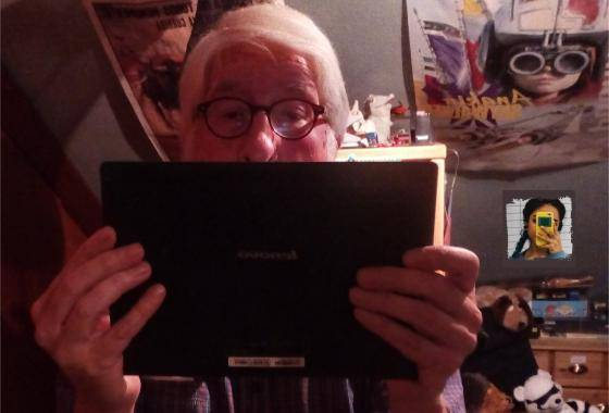 Willi im Selfie vor einem Spiegel– noch 10 Tage bis zur Rente