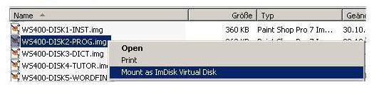 Disketten-Image mit ImDisk als virtuelle Platte (Wechseldatenträger) anlegen